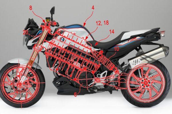 BMW desarrolla una nueva patente de moto eléctrica