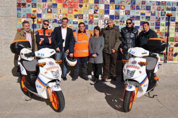 Torrelodones adquiere dos motos eléctricas para su servicio de Protección Civil