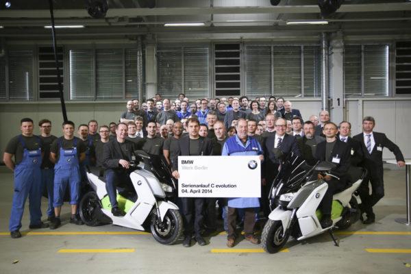 Comienza la producción en serie del maxiscooter eléctrico BMW C Evolution