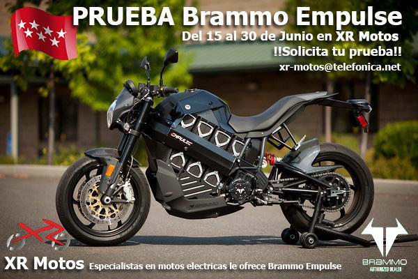 Banner XR Motos Brammo Empulse Prueba en Madrid