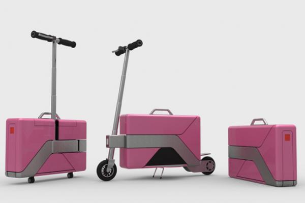 Case Commute, la primera scooter eléctrica convertible en maletín